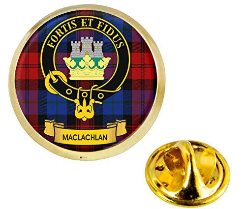 Maclachlan Scottish Clan Crest Lapel Pin Badge in Gold Colour Product Of Scotland