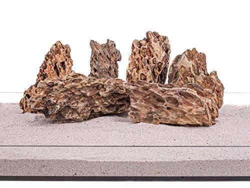 Aquarium Natursteine Drachenstein braun 20 Kg Gr.L 2-3 Kg Nr.64 Steine Deko Felsen Pagode Dekoration Aquascaping