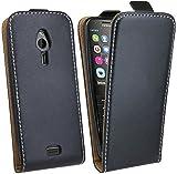cofi1453 Klapptasche kompatibel mit Nokia 230 Schutztasche Schutzhülle Flip Tasche Hülle Zubehör Etui in Schwarz Tasche Hülle