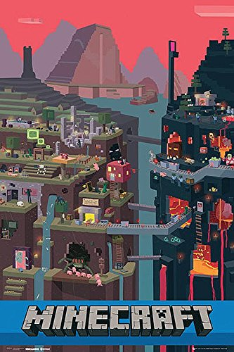Minecraft Close Up Poster World (61 cm x 91,5 cm) + Ü-Poster