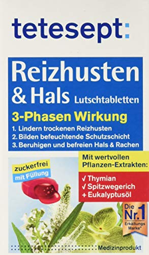 TETESEPT Reizhusten & Hals Lutschtabletten 20 St Lutschtabletten