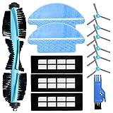 ZITFRI Kit de Recambios para Cecotec Conga 3090 Robot Aspirador 13 PCS Repuestos de 3 Filtros HEPA 6 Cepillos Laterales 1 Cepillo Principal 2 Mopas Fregona y Más, Accesorios Cecotec Conga Serie 3090