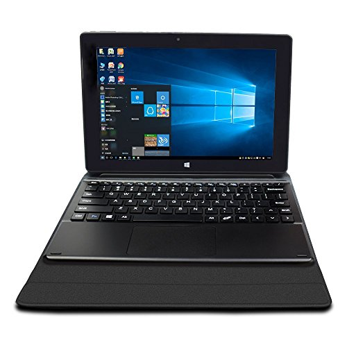 YUNTAB T2 10.1 Pollici Notebook/Tablet PC 2-in-1, Intel Baytrail-CR Z3735F, Microsoft Windows 10 OS, Quad Core, IPS Display Risoluzione di 1280*800, 2GB/32GB, Tastiera Staccabile Con supporto, Coperchio Plastico(NERO)