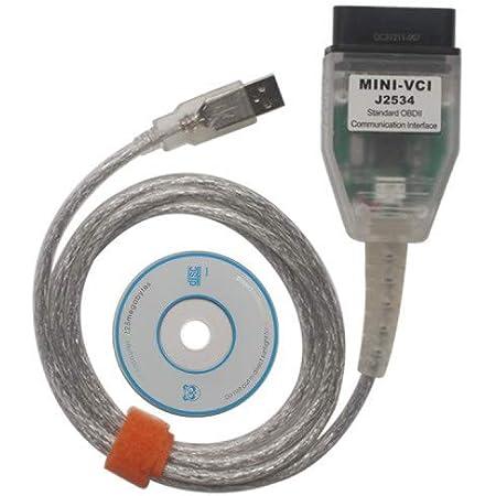 Mini VCI J2534 TIS techstream Diagnostic Cable, OBD2 Scanner for Toyota Lexus Scion