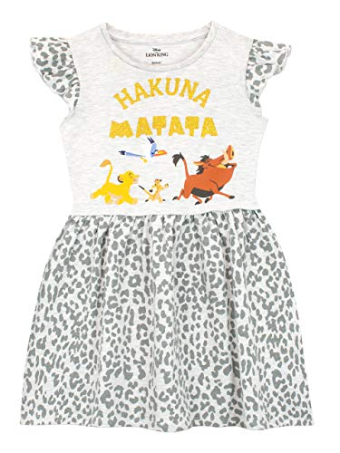 Disney Girls' The Lion King Dress Size 5 Grey
