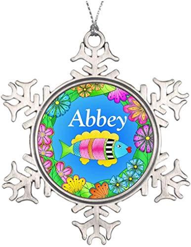 PotteLove Personalized Best Friend Snowflake Ornaments Tropical Fishy Fish Christmas Reindeer Decorations Tropics