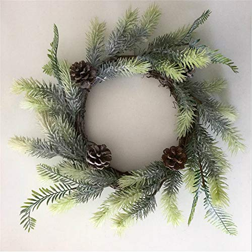 yologg 50Cm Christmas Wreath Simulation Cedar Wreath Christmas Decoration Holiday Atmosphere Door Decoration Garland