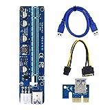 Gazechimp VER008C PCI-E Tarjeta elevadora 6 Pin PCI Express Adaptador SATA Power para minería de Bitcoin, fácil de Instalar