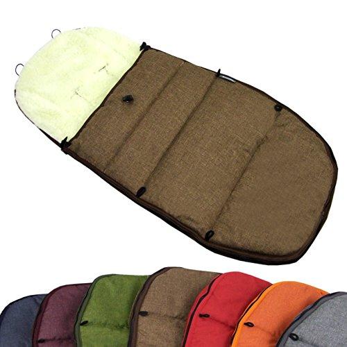 BAMBINIWELT BUGABOO Winterfußsack Cameleon, Sitzauflage, mit Wolle (Mod-K) (braun)