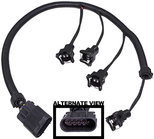 APDTY 133624 Fuel Injector Wiring Harness Upgrade (Allows Simple Upgrade Of The 2.0L LSJ Ecotec Turbo Engine To Use High Flow EV1 EV-1 Fuel Injectors On 2005-2007 Chevy Cobalt SS Saturn Ion Redline)