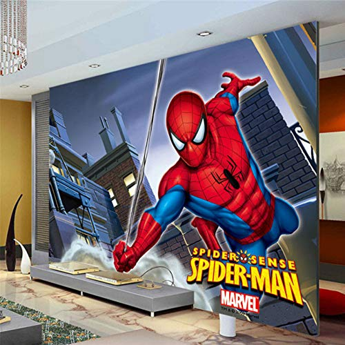Marvel Spiderman Kids Boys Children Fotobehang Custom Super Hero Muurschildering Wallpaper Home Decoration Room Decor Bedroom