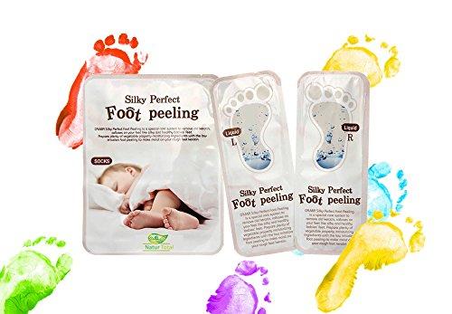 Fuss Peeling Maske Hornhautsocke Hornhautentferner - Made in Korea die Hornhautsocke für Samtweiche Füße - Korea Kosmetik ist Tierversuchsfrei - Fuss Peeling