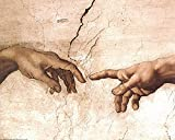 EuroGraphics The Creation of Adam (Detail) by...