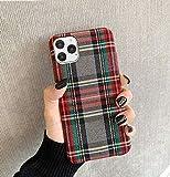 Mixneer Warm Flannel Plaid Cloth Phone Case Simple...