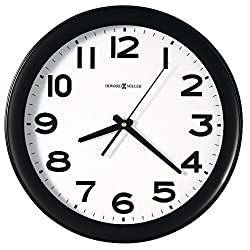 HOWARD MILLER CLOCK CO., Kenwick Wall Clock, 13-1/2, Black