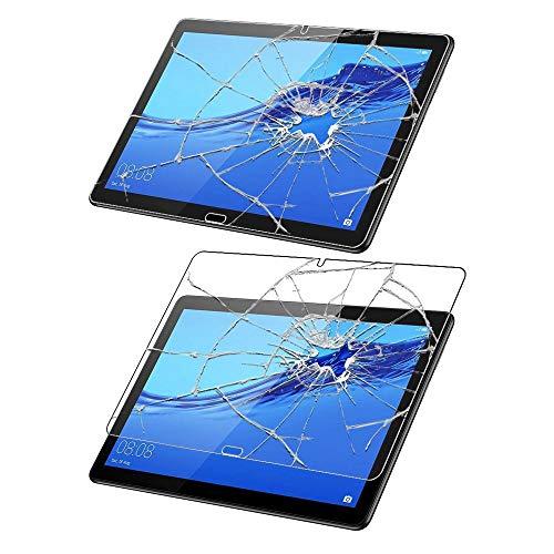 ebestStar - kompatibel mit Huawei MediaPad T5 10 Hülle Tablet 10.1 Smart Cover [Ultra Dünn] Schutzhülle Etui Ständer Case, Schwarz + Panzerglas Schutzfolie [T5 10.1: 243 x 164 x 7.8mm, 10.1'']