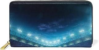 プロ野球場 長財布 メンズ ラウンドファスナー 財布 取り出しやすい 小銭入れ レザー カード収納