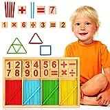 WELLXUNK Matematica Palos,Colorido Madera Matemáticas Juguetes, Calculación Matemáticas Juguetes, Juguetes Educativos,Juegos Matematicos De Madera, Varillas De Números Educativos