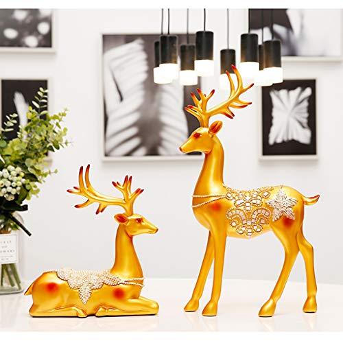 Silai Lucky hert creatieve Scandinavische decoratie wijnkast thuis woonkamer tv-kast decoratie bureau decoratie bruiloft geschenken, Zwart