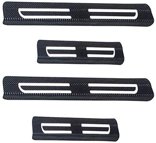 NACHEND AutomóViles Placas ProteccióN Umbral Puerta Fibra Carbono para Ford Kuga, De ProteccióN Decorar Pisada De Pie Puerta Decorativa Umbral