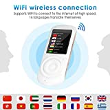 CIGONG Dispositivo de traducción de Voz bidireccional Inteligente, Pantalla táctil de 2,4 Pulgadas, ...