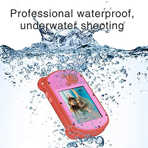 Sharesun onderwatercamera voor kinderen, digitale zoom, waterdicht, action recorder HD 1080p 8 x met flitser en 2,7 inch display, digitale camera voor kinderen