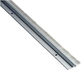 """National Guard 600A - 36"""" NGP Aluminum Door Sweep with Nylon Brush, Clear Anodized, 36"""""""