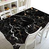 XXDD Elegante Simple Mantel de mármol Blanco Mantel de mármol Gris para Restaurante Mantel de Cocina A4 135x135cm