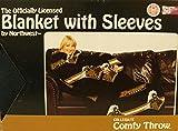 Comfy Throw Fleece Blanket with Sleeves Licensed College Emblems - Purdue Boilermakers