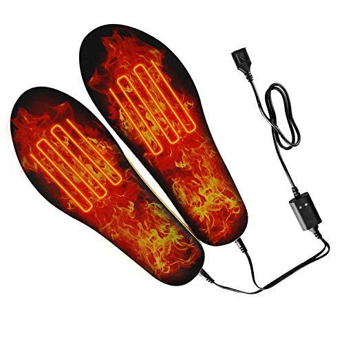 NXL Beheizbare Einlegesohlen, Wärmesohlen, Heated Insoles, Schuhheizung Elektrisch, Fußwärmer Sohlen Sohlenwärmer Wiederverwendbar, Schuhwärmer Fusswärmer Einlagen Mit USB,35 36 37 38 39 40