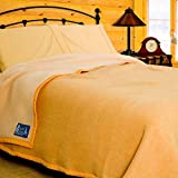 Poyet Motte Aubisque 500GSM Heavyweight 100-Percent Wool Blanket, Maise/Natural (Twin Size)