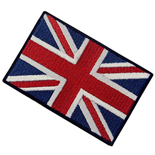 EmbTao British Union Jack Embroidered Patch England Flag UK Great Britain Iron On Sew On Emblem