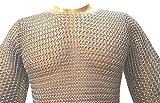 NASIR ALI Butted Aluminium Kettenhemd 10-15 Jahre Kind, mittelalterliches Kettenhemd Haubergeon ABS