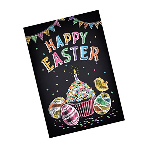 VALICLUD Fondo de Fotografía de Pascua Fondo de Foto de Huevo de Pascua Feliz Tapiz de Pared Bandera de Primavera de Pascua Signo para Fiesta de Pascua Decoración Studio Photo Booth Prop