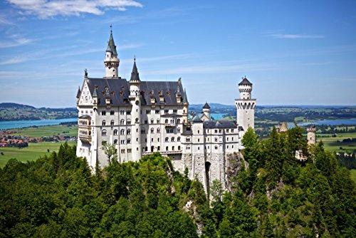 hansepuzzle 41555 Orte - Neuschwanstein, 2000 Teile in hochwertiger Kartonbox, Puzzle-Teile in wiederverschliessbarem Beutel