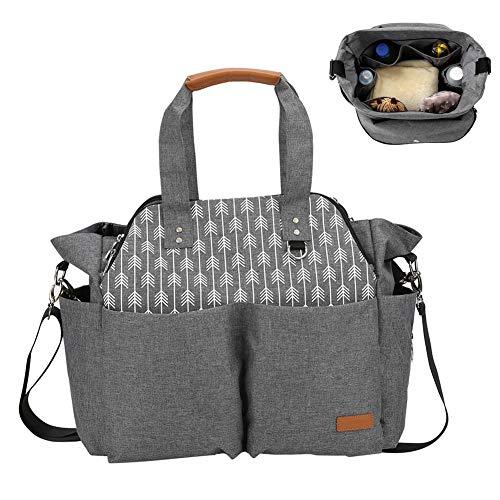 Babymummiezak met grote capaciteit, multifunctionele mode One-Shoulder Super grote capaciteit draagbare Messenger Baby Bag luier luiertas voor buiten reizen
