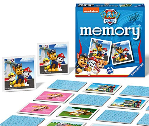Ravensburger Paw Patrol Mini Memory Game - Matching Picture Snap Pairs Game for Kids Age 3 Years and Up