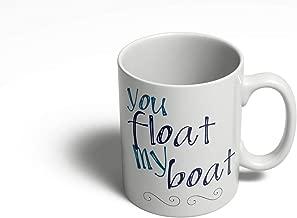 Kiskistonite Gift for Girlfriend Wife - You Float My Boat | Cute Mug | Anniversary Gift | Nautical mug Funny Coffee Cups and Mugs - 11oz