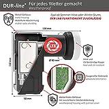 DUR-line +Ultra Twin LNB – 2 Teilnehmer schwarz – mit LTE-Filter, digital mit Wetterschutz, Full HD, 4K - 4