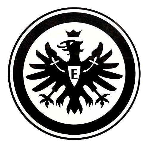 Eintracht Frankfurt Aufkleber, Sticker, Autoaufkleber Logo Innen schwarz - Plus Lesezeichen I Love Frankfurt