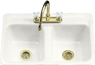 Amazon.com: Cast Iron Double Bowl Kitchen Sinks