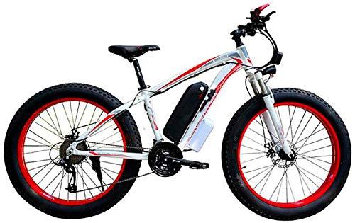 Bicicletta Elettrica, Elettrico Neve biciclette, batteria al litio 4,0 grasso freno a disco pneumatici bicicletta elettrica professionale 27 Velocità di trasmissione Ingranaggi 48V15AH adatto a 160-19