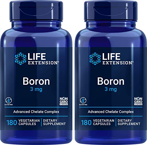 Life Extension Boron 3 mg 180 Caps (Pack of 2)
