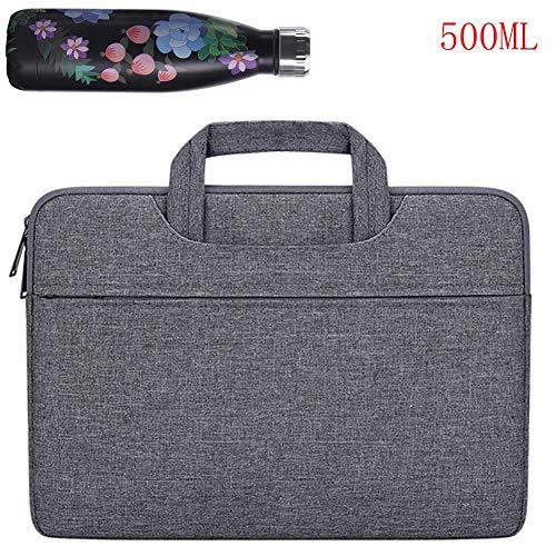 ZZTT Bolsa para computadora portátil, hervidor, maletín portátil para Hombres y Mujeres Tela Oxford Impermeable Bolsa de Trabajo de 12-15.6 Pulgadas,E,15.6inches