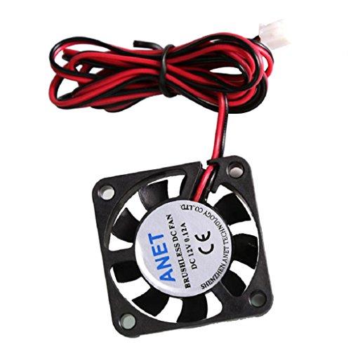 LOVIVER Ventilador de Refrigeración DC Sin Escobillas 40x40x10 40mm 4010 DC 12V Conector de 2 Pines