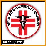 N. 2 ordine Medici Chirurghi e Odontoiatri, vetrofanie interno vetro, Stencil in vinile PVC Dottore auto personale, decalcomania Auto moto camper