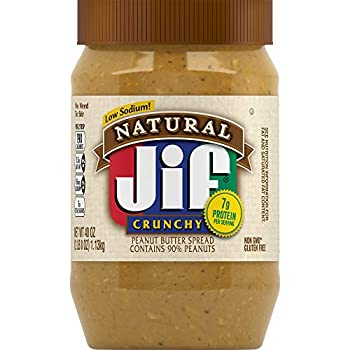 Jif Natural Crunchy Peanut Butter 40 Ounces  Pack of 8  7g  7% DV  of Protein per Serving Packed with Peanuts for Extra Crunch No Stir Natural Peanut Butter