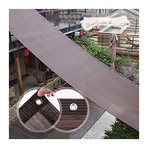 PENGFEI Malla Sombra Red, Red Cortinas Marrones para Interiores Exteriores, Sin Resistencia Al Envejecimiento por Olor, Ventilación con Aislamiento, 165 G / (Color : A, Size : 2mx6m)