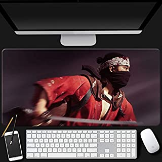 Mopoq Ghost of Tsushima mouse pad Ghost of Tsushima game surrounding oversized computer desk thickened table mat wear-resi...