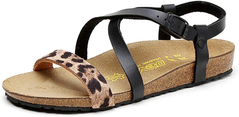UBCA-DEVO Women Mirror Plane Cross Versatile Non-Slip Suede Sandals